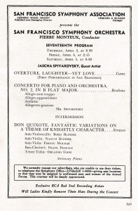 1952 Monteux Brahms program